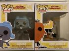 Funko Pop! 2 PIECE SET! Rocky AND Bullwinkle #447 and #448. Near Mint condition!