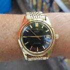 VINTAGE OMEGA SEAMASTER AUTOMATIC GOLD & STEEL BLACK DIAL