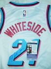 Hassan Whiteside Signed A Rare Miami Vice Heat Jersey in Person JSA CERTIFIED