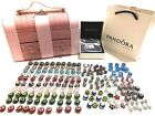AUTHENTIC PANDORA BRACELET WITH 180 pcs of  MURANO, cz European beads Pink
