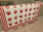 Early Red and White Basket quilt