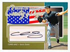 2011 ITG Heroes & Prospects Chris Sale Country of Origin Gold Auto Rookie Rc 10