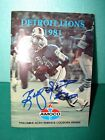 1981 Detroit Lions Media Guide - Signed by Billy Sims and Eddie Murray.
