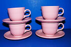 Fiesta Pink Rose Contemporary 4 Cups w  & Saucers Sets