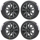 18 LEXUS ES350 GS350 GS450 BLACK CHROME WHEELS RIMS TIRES FACTORY OEM SET 74269