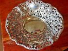 Vintage Godinger Decorative Filigree Roses Silver Plate Filigree Open Work