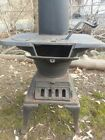Rare antique vintage cast iron coal wood stove for cabin, shed or decoration