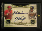 2013 Topps Tier One Mike Trout & Rickey Henderson Dual Auto On Card #2 25 Nice!