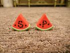 Vintage Salt and Pepper Shakers Watermelon