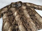 Lane Bryant 26 28 Animal Print Button Front Shirt Top Tab Sleeve Flaw Hole