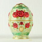 Chinese Cloisonne Handmade Carved Red Rose Flower Toothpick Box JTL3052