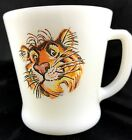 Vintage Coffee Mug Fire King Milk Glass Exxon Esso Tony The Tiger in Your Tank