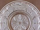 Vintage Federal Glass HERITAGE Crystal Sandwich Platter Tray Beaded Scrolls MCM