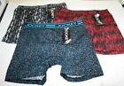 NWT set/3 JOCKEY Sport Cooling Mesh Performance BOXER BRIEF  RED GRAY dots