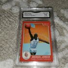 1985 STAR MICHAEL JORDAN ERROR UNC ROOKIE BASKETBALL CARD GRADED GEM MINT 10 $$
