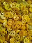 ⭐️  ANTIQUE~VINTAGE CHINA BUTTONS LOT OF 100+ RARE YELLOWS   ⭐️