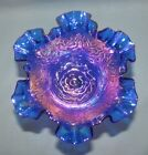 Fenton Cobalt Independence blue Carnival Persian Medallion comport 8234 compote