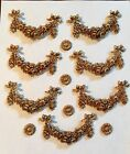 Vintage Labarge French Style Brass Lamp Trim Mounts Elements