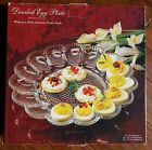 Vintage Deviled Egg Plate IN BOX ~Indiana Hobnail Clear Glass -#5265