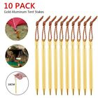 10X 7 inch Lengthen Aluminum Alloy Y shaped Tent Stakes Pegs for Camping Gold BT