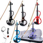 5 Color 8 Pattern Electric Violin Silent Set w Case Bow Rosin