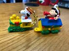WILTON PEANUTS CHRISTMAS KEEPSAKE  ORNAMENTS  SNOOPY LUCY TRAIN PLASTIC
