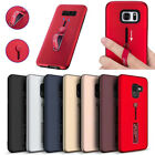 Outdoor Ring Stand Shockproof TPU Soft Rubber + Hard PC Hybrid Case Cover