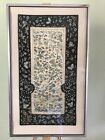 Antique Chinese Panel Silk Embroidery Birds Butterflies