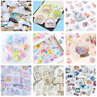 46PCS Fashion Stamps Stickers Kawaii Stationery DIY Scrapbooking Diary Stickers