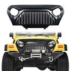 Black Gladiato Front Grill Grid Grille Cover For Jeep Wrangler TJ 1997 2006