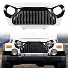 1Pcs Front Grill Grid Grille Cover For Jeep Wrangler TJ 1997 2006Black