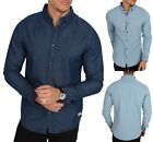 ONLY  SONS Long Sleeve Fashion Denim Shirt Vintage Light Dark Blue Jean Shirts