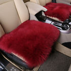 3pc Genuine Wool Winter Warm Fur Leather Car Seat Cover Cushion Sheepskin Pad