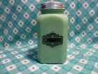 Jadeite Green Glass Black Letter Cinnamon Shaker in Excellent Condition