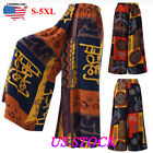 Women Baggy Harem Pants Boho Hippie Wide Leg Gypsy Yoga Palazzo Casual Trousers