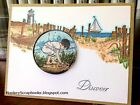 Impression Obsession Cling mounted rubber stamp PATH TO THE BEACH Made in USA