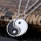 2PCs Charm Yin Yang Necklace Lover Best Friend Friendship Christmas Gift Xmas