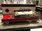 1 18 PRECISION MINIATURES59 Cadillac Superior Crown Royale Ambulance White red