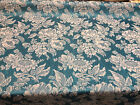 Jacoflowers Jacquard Drapery Upholstery Turquoise Fabric By The Yard