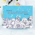 23Pcs Clear Stamps For Card Making Scrapbooking Embossing Paper Craft Flower DIY