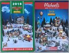 2018 LEMAX Christmas Holiday VILLAGE Set Kmart / Michael's Brochure Pamphlet Set