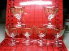 Vintage Set of 6 Libbey Marine Life Liquor Cordial Cocktail Glasses Gold Fish