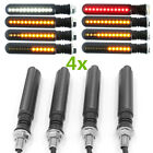 4x ATV Scooter Dynamic LED Signal Indicator + Red Strobe Brake Light + White DRL