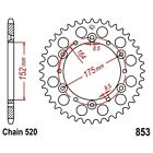 Rear Sprocket 50 Tooth Pitch 520 For Kreidler Mustang 170 Utility 2004 - 2006