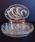 Vintage 4 Federal Glass Homestead Hospitality Clear Glass Luncheon Snack Plate