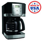 Electric Programmable Coffee Maker Machine Automatic Stainless Steel Brew 12 Cup