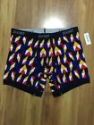 Nwt Men's 2(x)Ist Graphic Cotton  No-Show Stretch Trunks M