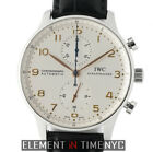 IWC Portuguese Chronograph Steel 41mm Silver Dial Gold Numerals IW3714-45