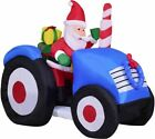 Inflatable Santa On Truck Christmas Holiday Decoration Indoor Outdoor