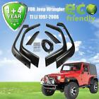 Pocket Wide Extended Fender Flares Cover OE Style For 1997 2006 Jeep Wrangler TJ